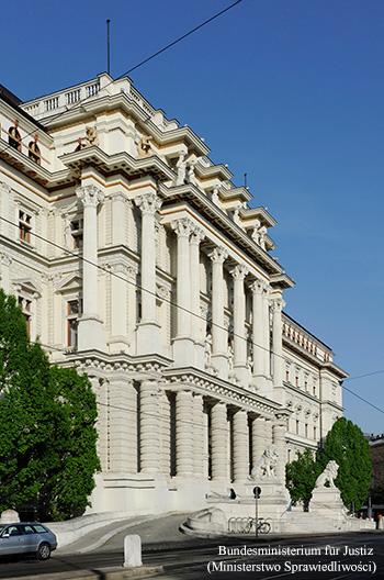 Sąd Najwyższy, znajdujący się w budynku zwanym Pałacem Sprawiedliwości, Wiedeń